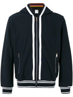 striped detail zipped hoodie Paul Smith