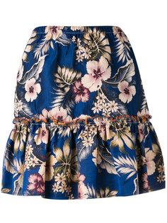 юбка с рюшами и цветочным принтом Philosophy Di Lorenzo Serafini