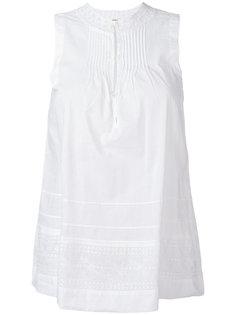 блузка без рукавов с вышивкой  Bellerose