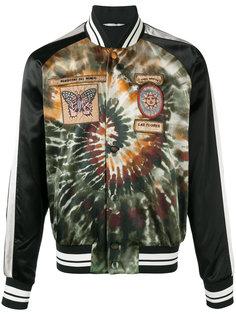 куртка-бомбер  с заплатками Valentino
