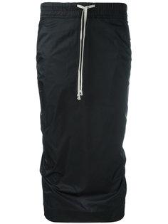 юбка с эластичным поясом Rick Owens DRKSHDW