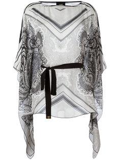 waist-tie patterned blouse Cavalli Class