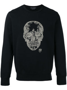skull embellished sweatshirt Alexander McQueen