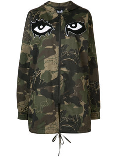 camouflage printed hooded coat Haculla