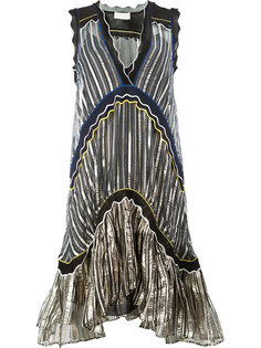 расклешенное платье  в полоску Peter Pilotto