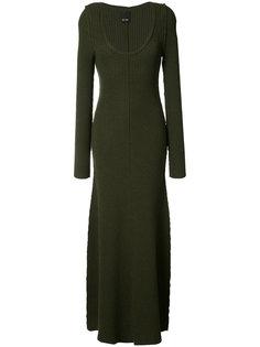 длинное платье без рукавов Josh Goot