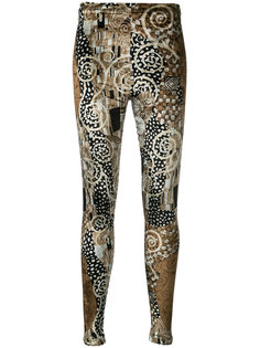 printed velvet leggings Kenzo Vintage