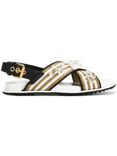 сандалии с кристаллами Car Shoe