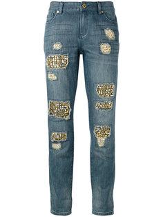 рваные джинсы с блестящей отделкой Michael Michael Kors