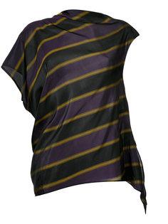 striped asymmetric blouse  08Sircus