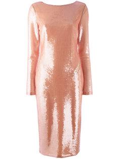 платье с длинными рукавами и пайетками Tom Ford