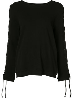 lace-up sleeve sweater Rta