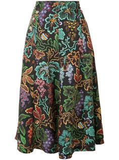 юбка с лиственным принтом Philosophy Di Lorenzo Serafini