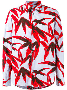 рубашка с лиственным принтом Marni