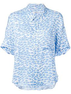 рубашка с короткими рукавами и мелким принтом Julien David