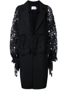 пальто с вышивкой на рукавах Co-Mun