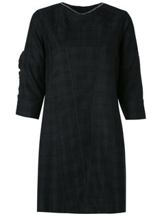 plaid shift dress Andrea Bogosian