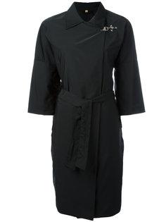 пальто с короткими рукавами и поясом Fay