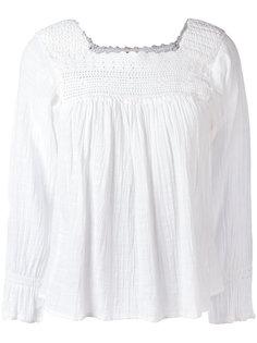 блузка с ажурной вставкой Masscob