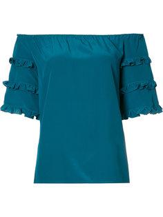 off the shoulder frill sleeve top Vanessa Seward