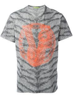 футболка с зебровым принтом Versace Jeans