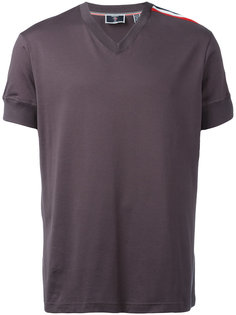 tri-colour stripe v-neck T-shirt Rossignol