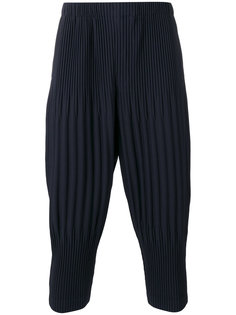 pleated cropped pants  Homme Plissé Issey Miyake