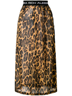 юбка с леопардовым принтом Alessandra Rich