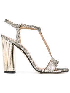 metallic grained T-bar sandals Marc Ellis