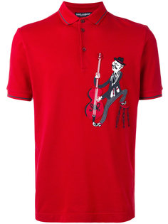 футболка-поло с нашивкой музыканта Dolce & Gabbana