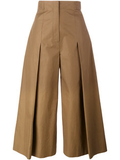 широкие брюки со складками Fendi