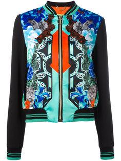 contrast sleeve bomber jacket Versace Jeans