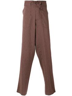 полосатые брюки с поясом Andrea Pompilio