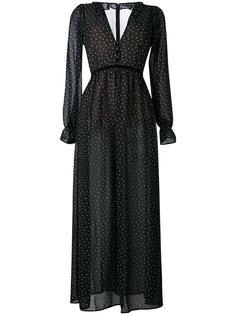 длинное платье с узором в горох For Love And Lemons