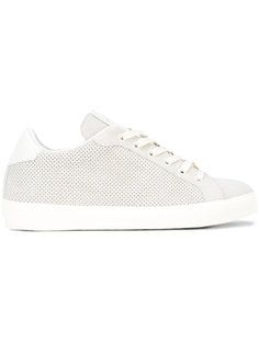 perforated sneakers Leather Crown