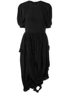 асимметричное платье с оборкой Simone Rocha