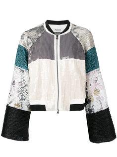 куртка с фактурной вставкой Aviù