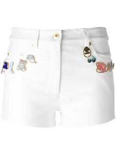 декорированные шорты Moschino