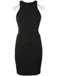 платье-футляр с цепочными деталями Philipp Plein