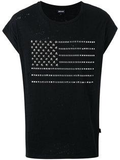 футболка с принтом флага из заклепок Just Cavalli