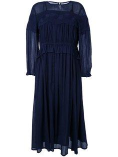 платье миди с оборками Muveil