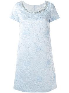 жаккардовое платье с цветочным узором Blugirl