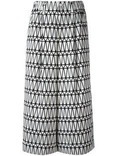 юбка-шорты с широкими брючинами и принтом Issey Miyake