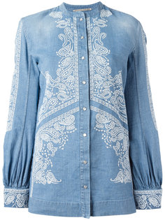 embroidered billow sleeve top Ermanno Scervino