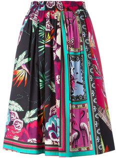юбка А-силуэта с комбинированным принтом Etro