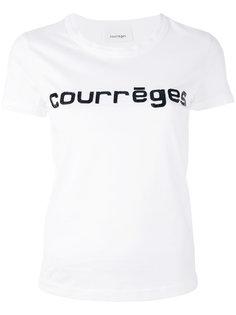 футболка с принтом-логотипом Courrèges