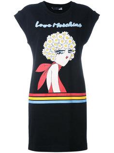 платье-футболка с графическим принтом Love Moschino