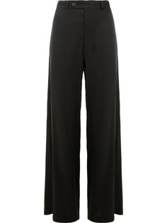 flared drape stitch trousers Moohong