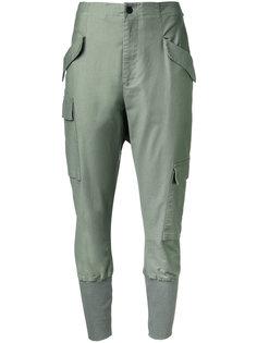 ribbed cuffed trousers  Bassike
