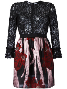 мини-платье с цветочным кружевом Christian Pellizzari